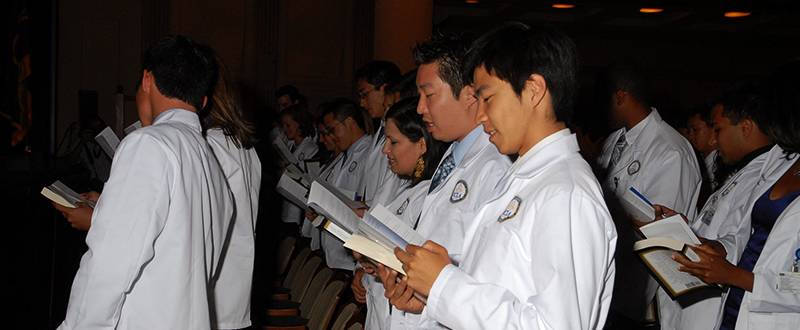 White Coat Ceremony at the David Geffen School of Medicine