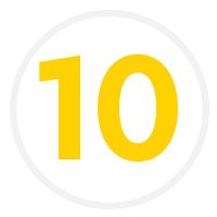 A number ten icon